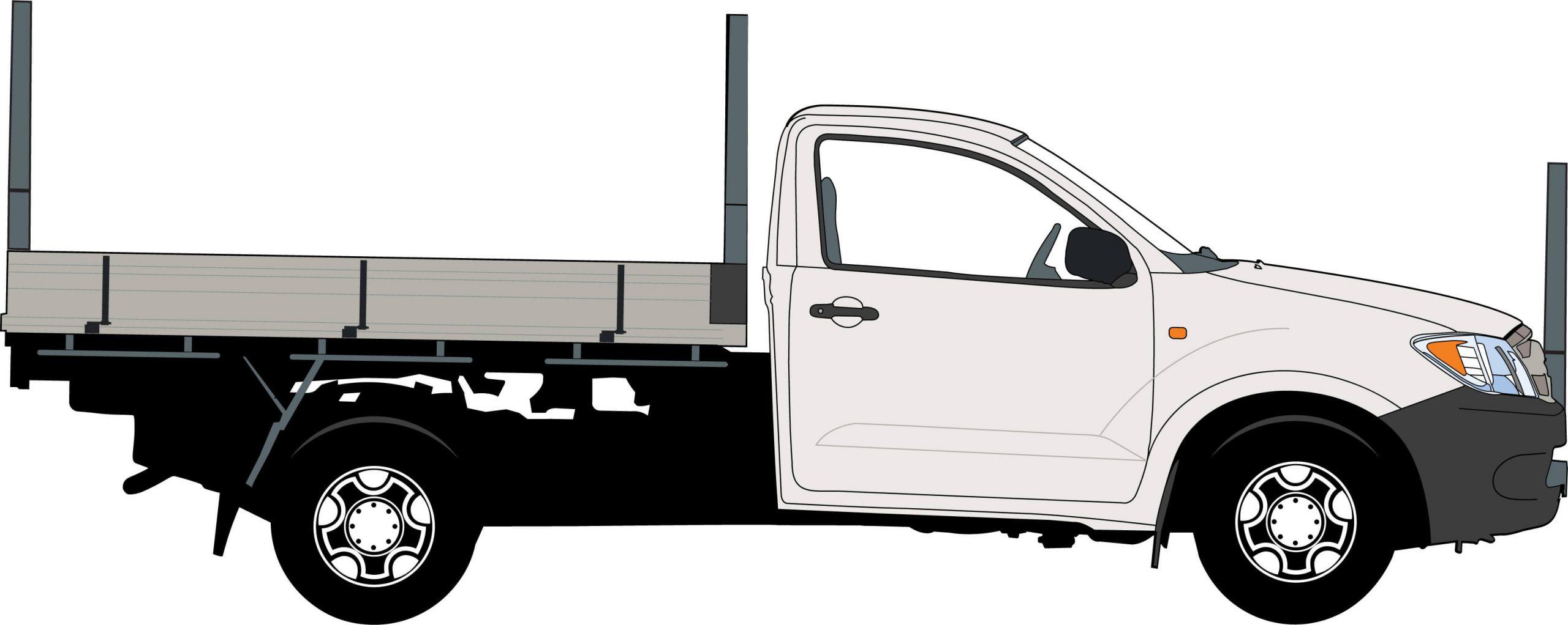 Ute – 1 Tonne, Triple Rack preferred